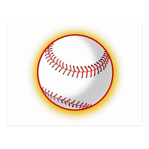 softball ball halftone dots post cards