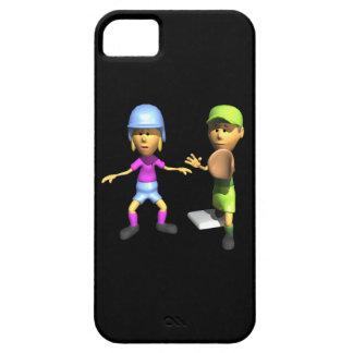 Softball Base Runner iPhone 5 Cases