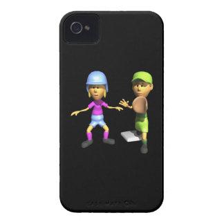 Softball Base Runner iPhone 4 Cases