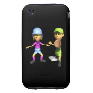 Softball Base Runner iPhone 3 Tough Covers