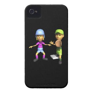 Softball Base Runner iPhone 4 Case-Mate Case