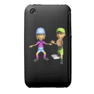Softball Base Runner Case-Mate iPhone 3 Cases