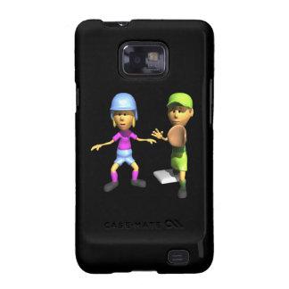 Softball Base Runner Samsung Galaxy S2 Cases