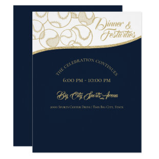 Softball Baseball Gold Celebration Invitation