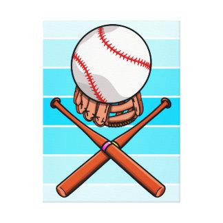 Softball / Baseball Jolly Roger Like Illustration Canvas Print