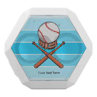 Softball / Baseball Jolly Roger Like Illustration White Bluetooth Speaker