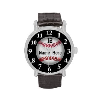 Softball Baseball Watches, YOUR NAME and NUMBER