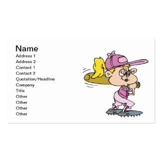 Softball Batter Business Card