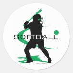 Softball - Batter Classic Round Sticker