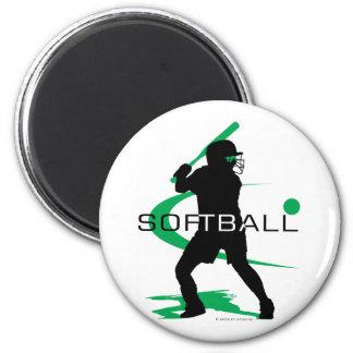 Softball - Batter 2 Inch Round Magnet