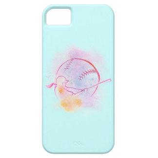 Softball Batter Pastel Splash iphone 5 Case