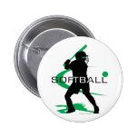 Softball - Batter Pinback Buttons