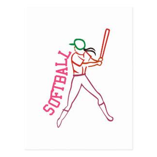 Softball Batter Postcard