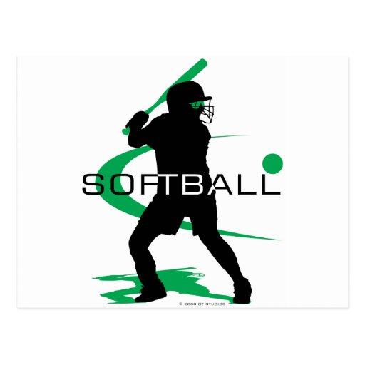Softball - Batter Post Card