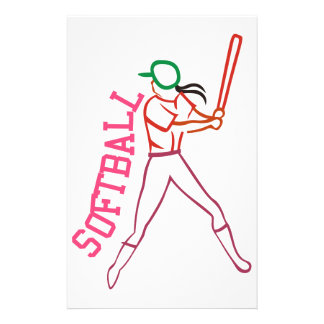 Softball Batter Stationery