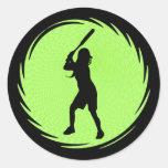 Softball Batter Sticker
