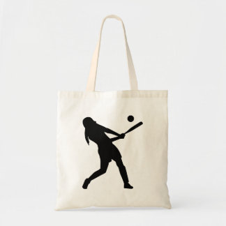 Softball batter tote bag