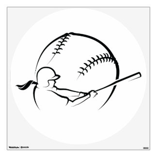 Softball Batter Wall Decal