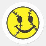 Softball Be Happy Classic Round Sticker
