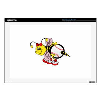 "Softball Bee Skin For 17"" Laptop"