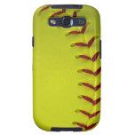 Softball/béisbol amarillos de neón de Dayglo Galaxy SIII Fundas