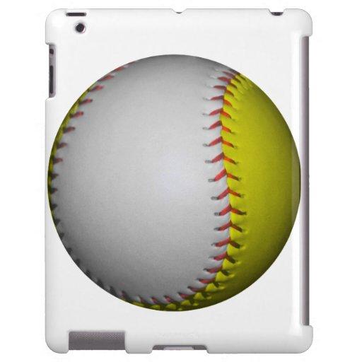 Softball/béisbol blancos y amarillos