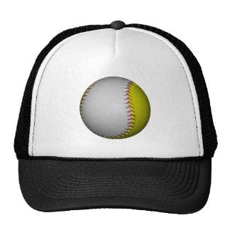 Softball/béisbol blancos y amarillos gorros