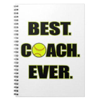 Softball Best Coach Ever Spiral Notebook