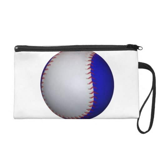 Softball blanco y azul del béisbol