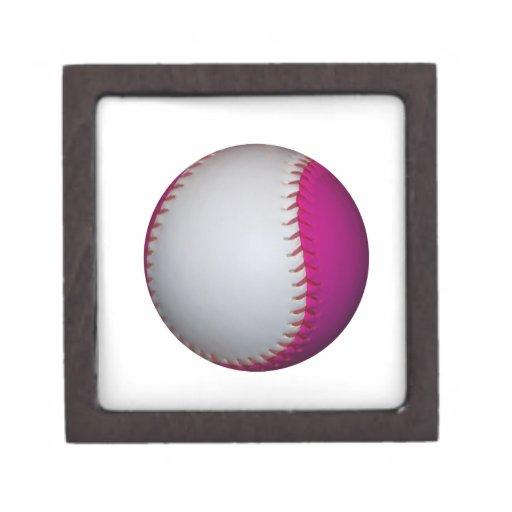 Softball blanco y rosado caja de joyas de calidad