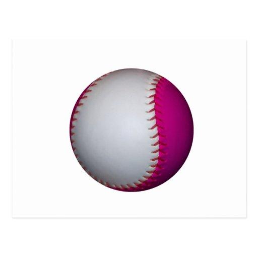 Softball blanco y rosado postales