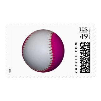 Softball blanco y rosado franqueo
