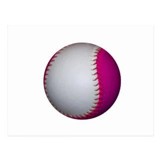 Softball blanco y rosado postal