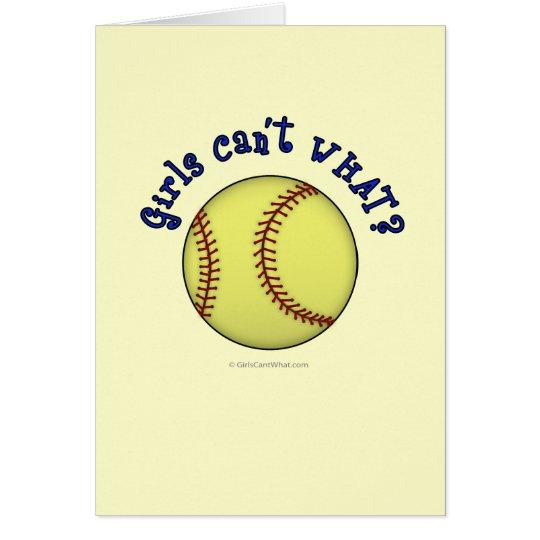 Softball-Blue Card