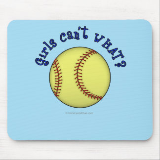 Softball-Blue Mouse Pad