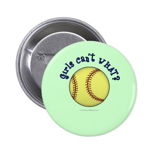 Softball-Blue Pinback Button