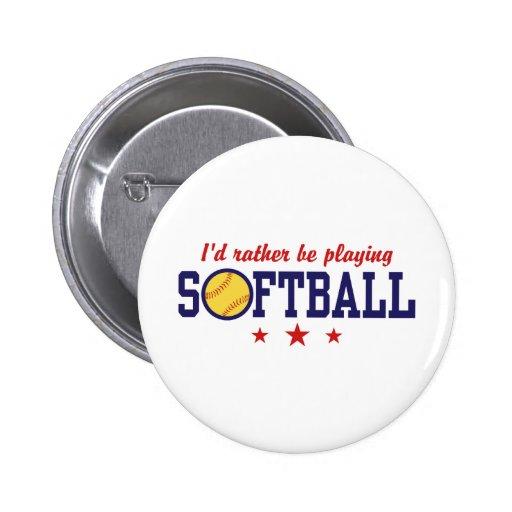 Softball Buttons