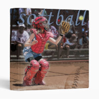 Softball Catcher 3 Ring Binder