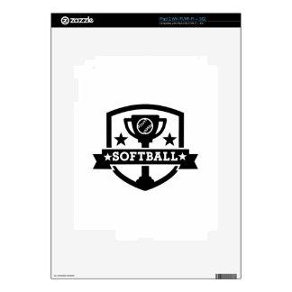 Softball champion iPad 2 decals