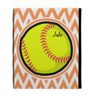 Softball; Chevron anaranjado y blanco
