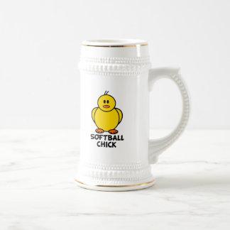 Softball Chick 18 Oz Beer Stein