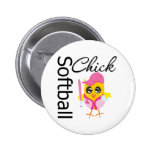 Softball Chick 2 Inch Round Button