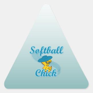 Softball  Chick #3 Stickers