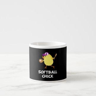 Softball Chick 6 Oz Ceramic Espresso Cup