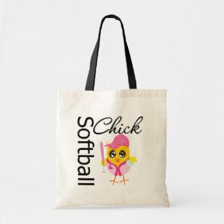 Softball Chick Budget Tote Bag