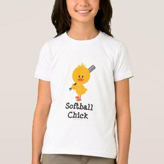 Softball Chick Kids Ringer Tee