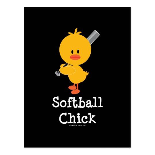 Softball Chick Postcard
