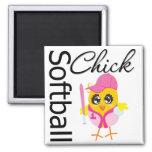 Softball Chick Refrigerator Magnet