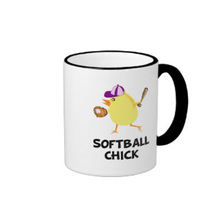 Softball Chick Ringer Coffee Mug
