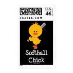 Softball Chick Stamps